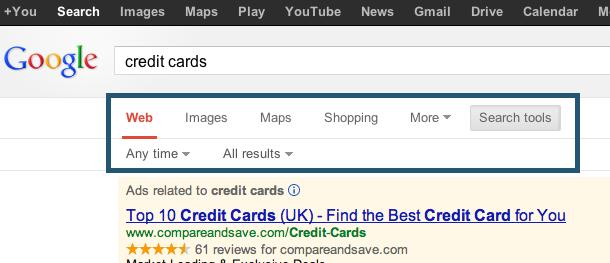 New google layout
