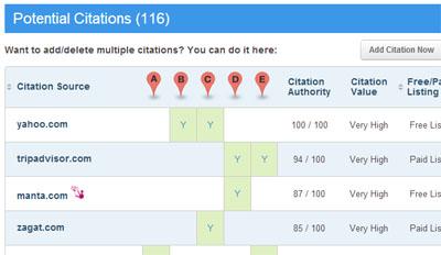 Brightlocal Citation Tracker report