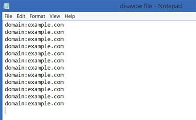 Disavow file
