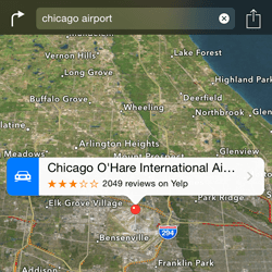 Apple maps versus Yahoo maps