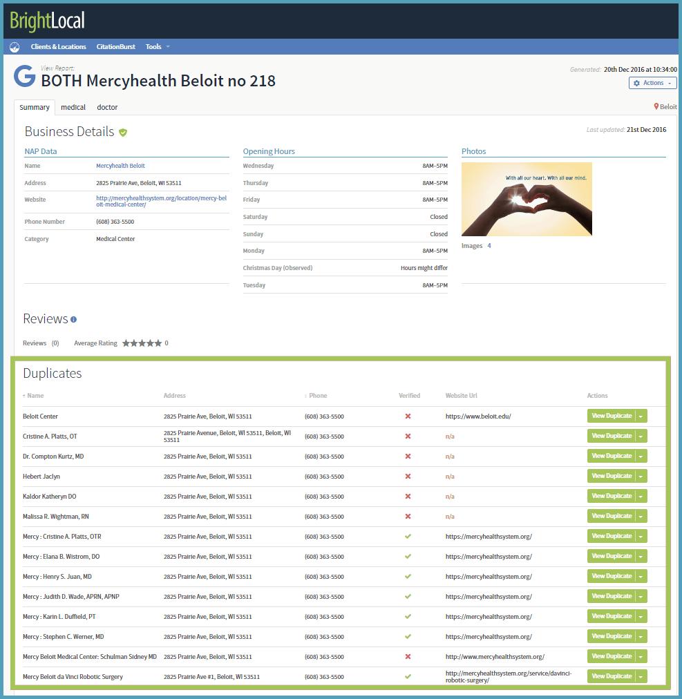 duplicate listings in Google My Business