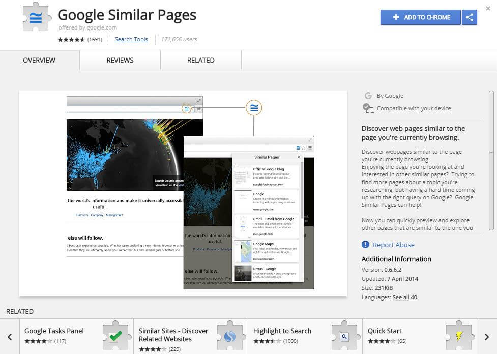 Google Similar Pages