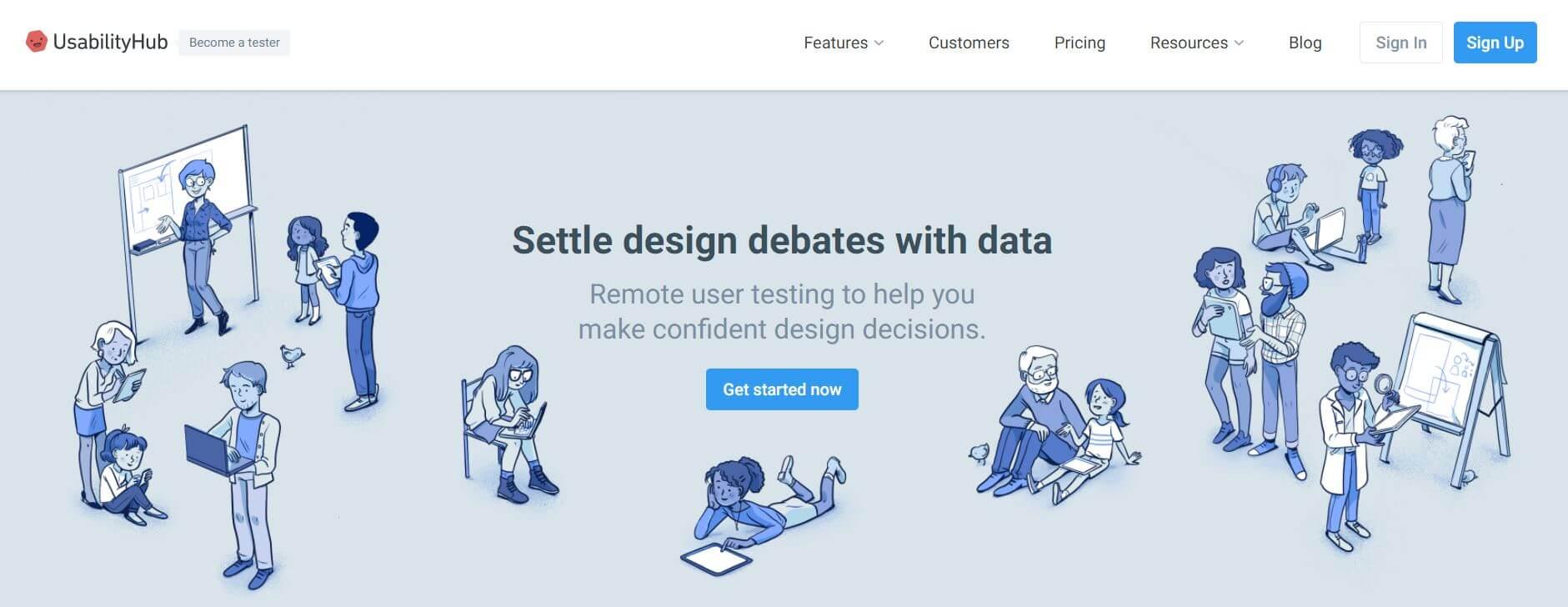 Usability Hub screenshot