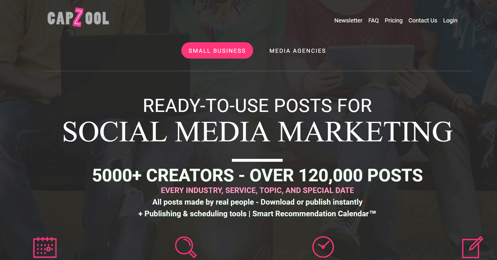 Capzool can create custom designed social media images for you