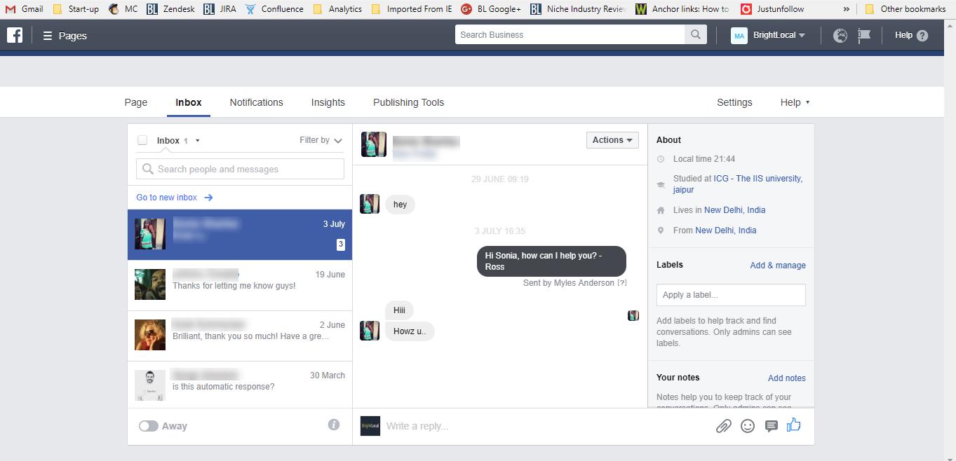 Facebook Messenger for Customer Service