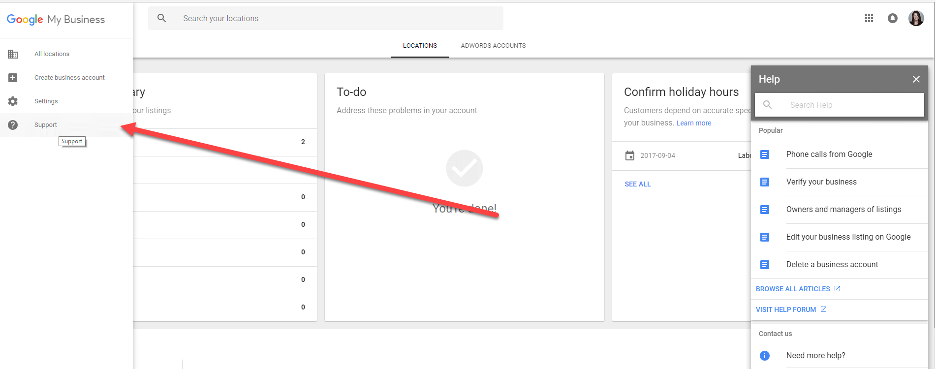 Google My Business Support