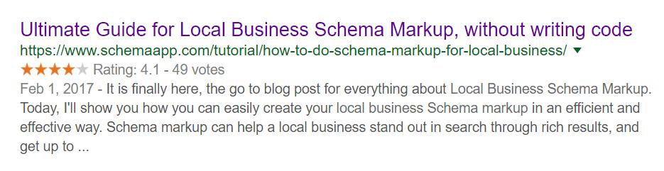 Local Business Schema Markup