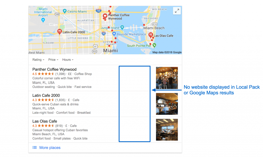 No website in local results