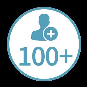 100+ clients