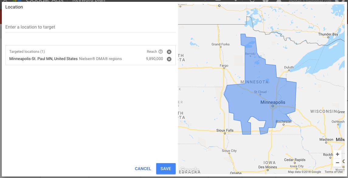 keywords location