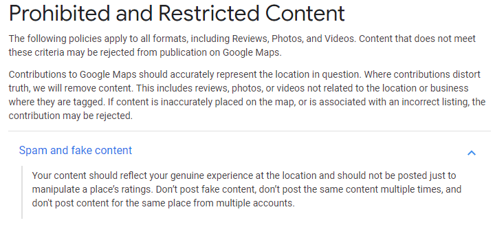 Prohibited and Restricted Content