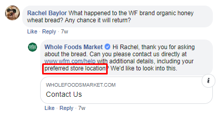 Whole Foods Customer Support
