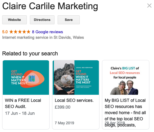 Google Offer Posts related to your search