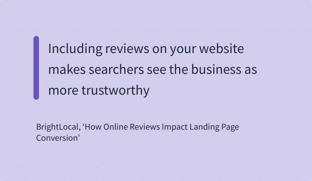 Online Reviews Statistics - BrightLocal How Online Reviews Impact Landing Page Conversion