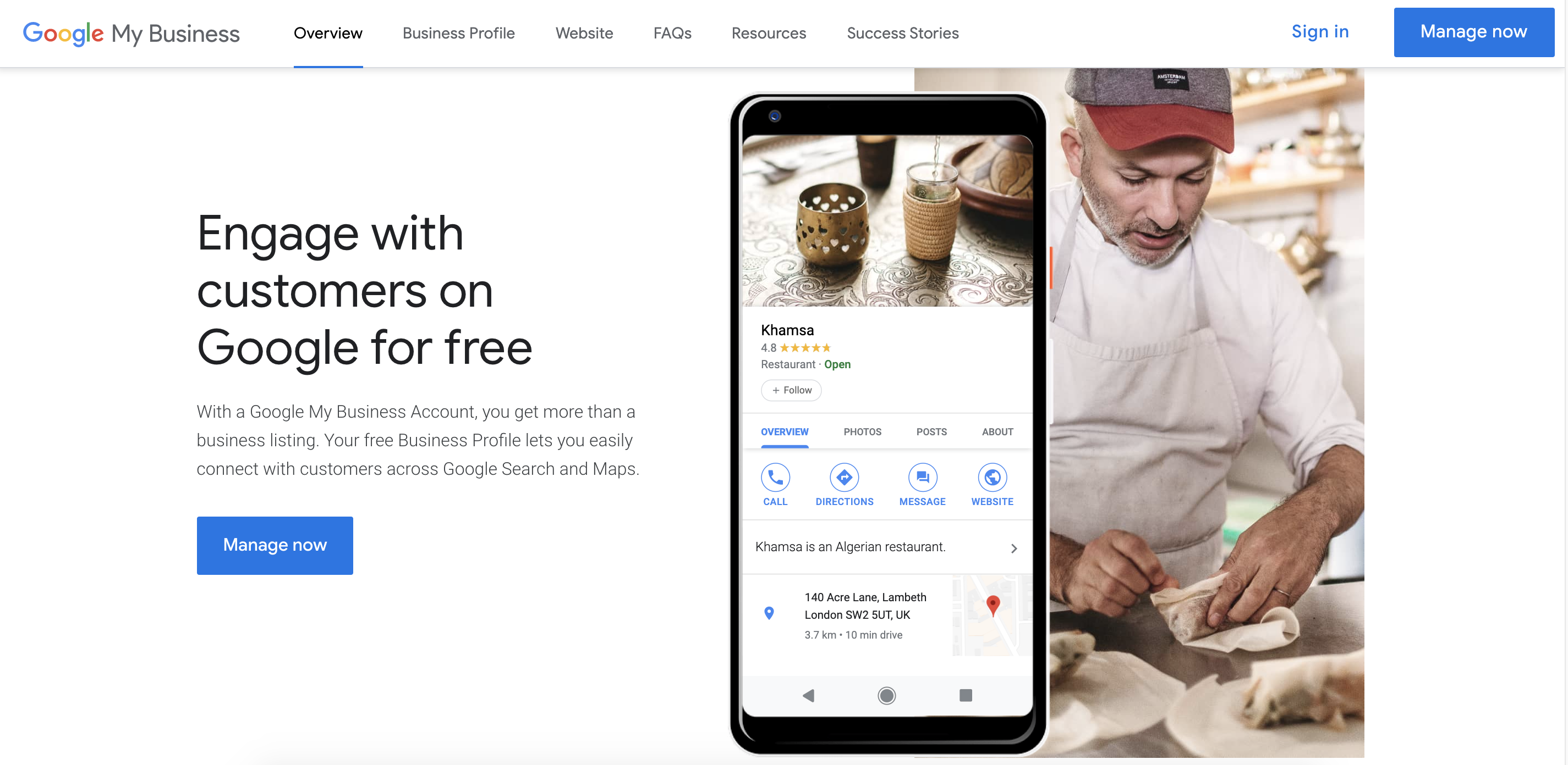 Manage your Google My Business listing