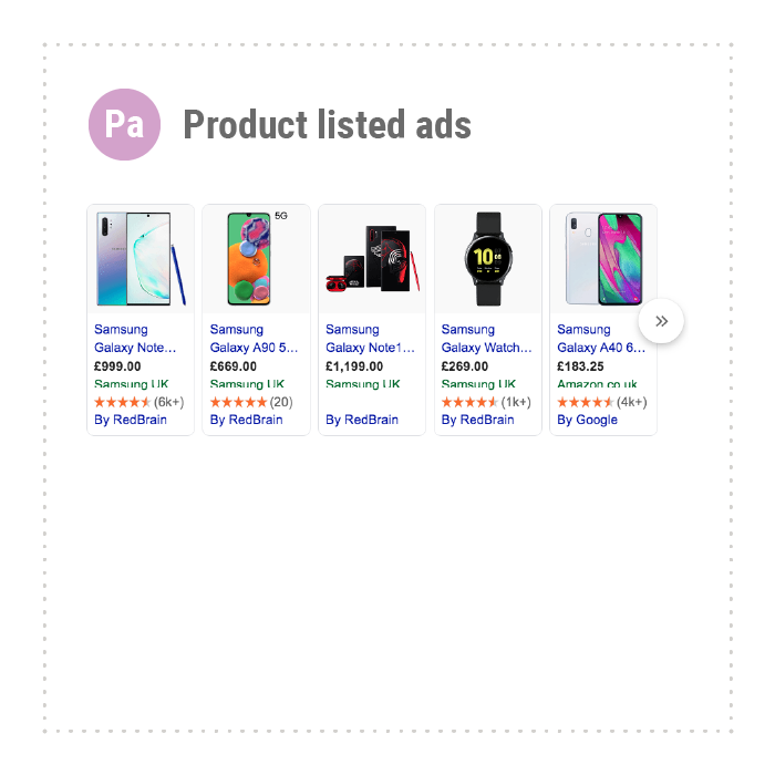 Product listed ads