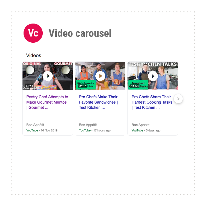 Video carousel