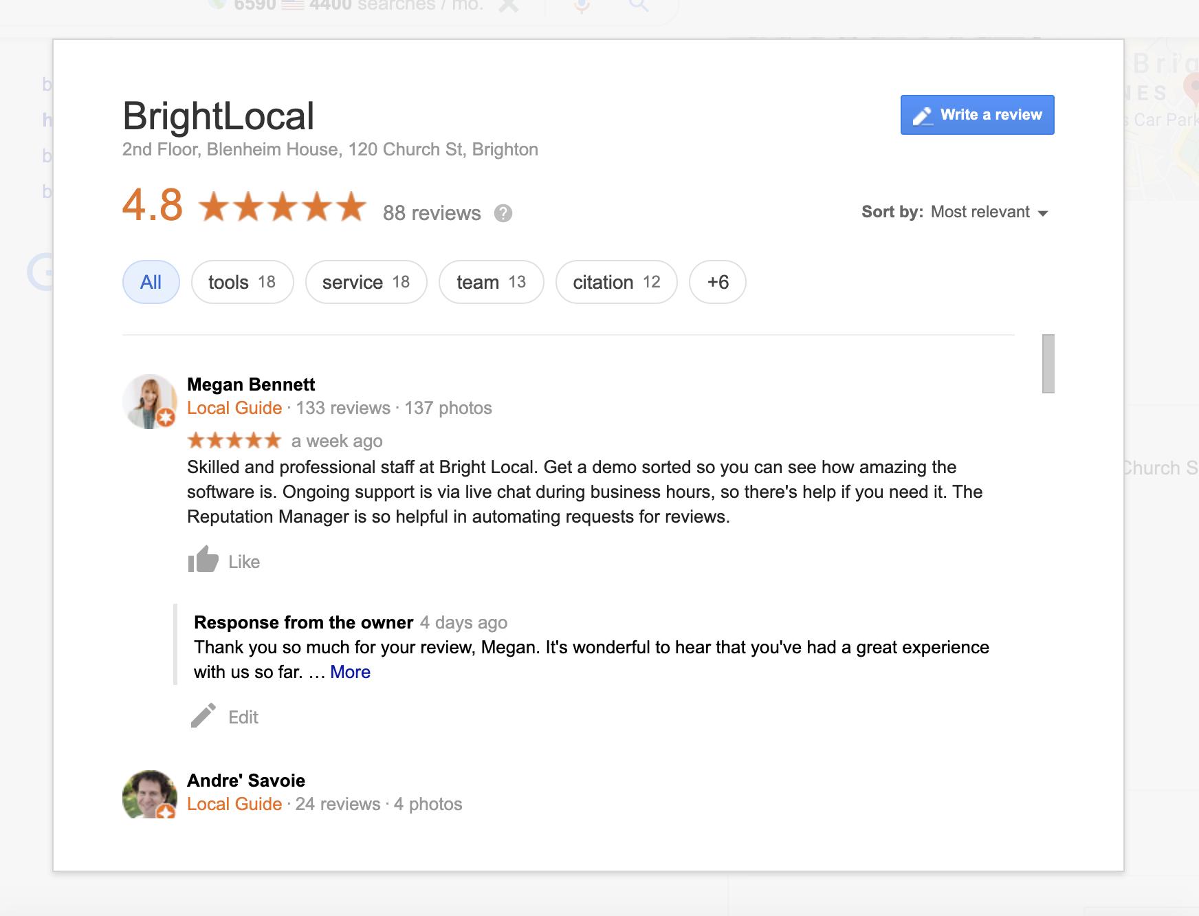 BrightLocal Reviews