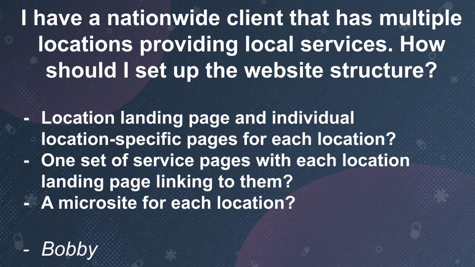 Local Search Clinic Q11