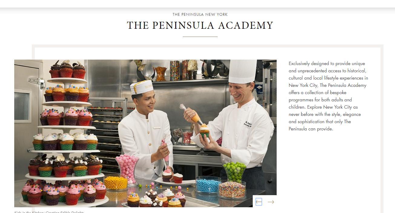 Peninsula Academy hotel blog content