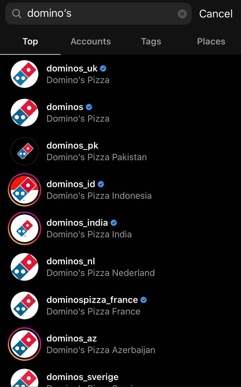 Multi-location biz on Instagram