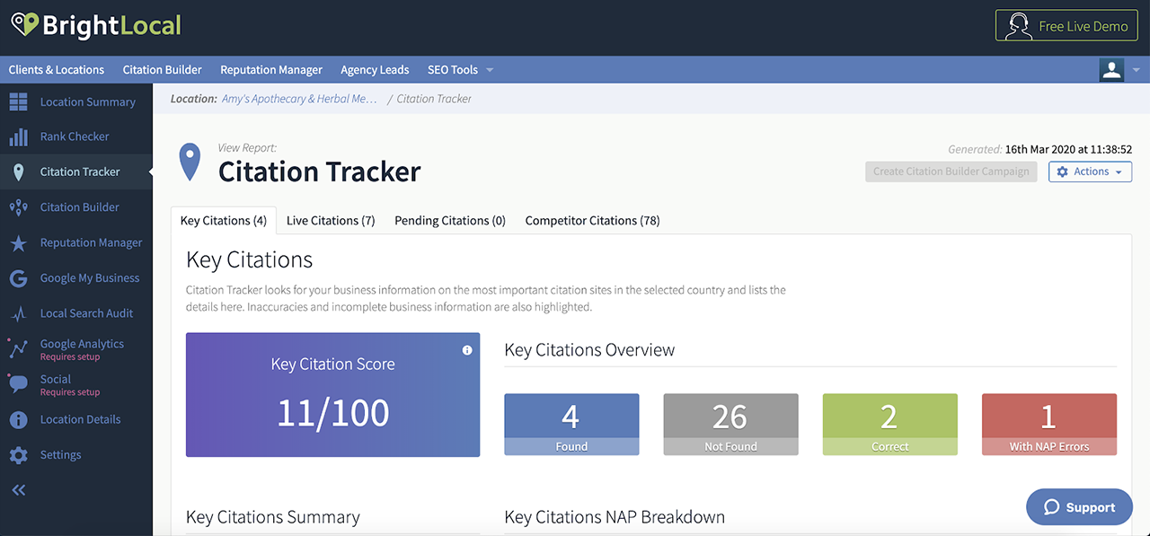Citation Tracker screenshot