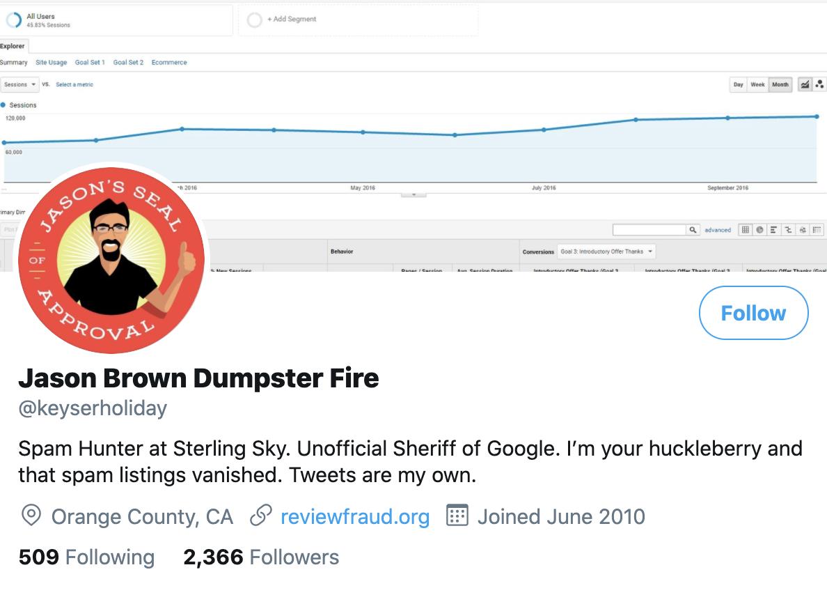 Jason Brown on Twitter