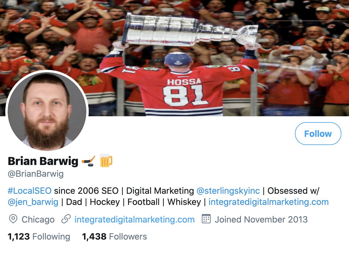 Brian Barwig on Twitter