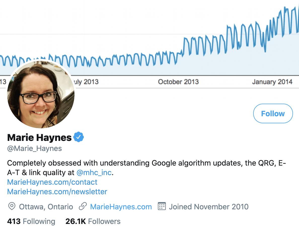 Marie Haynes on Twitter