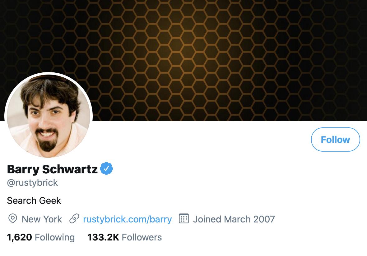 Barry Schwartz on Twitter