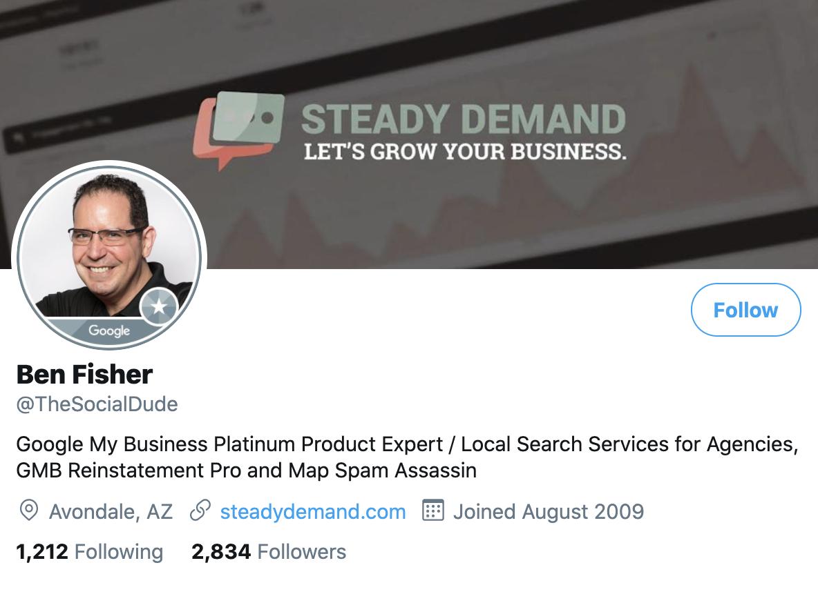 Ben Fisher on Twitter