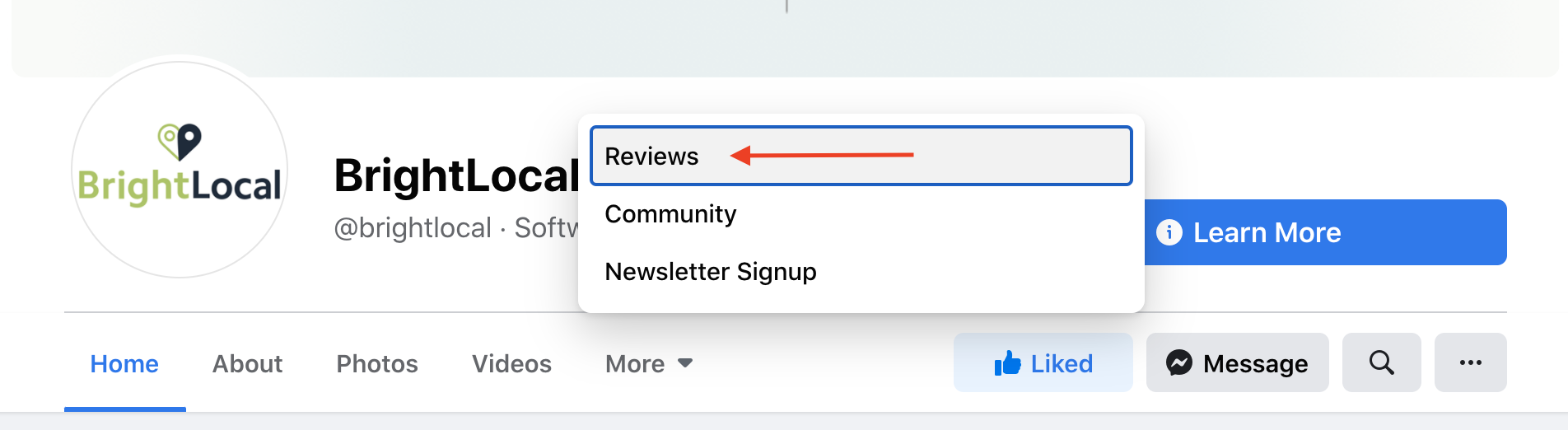 New Facebook reviews layout