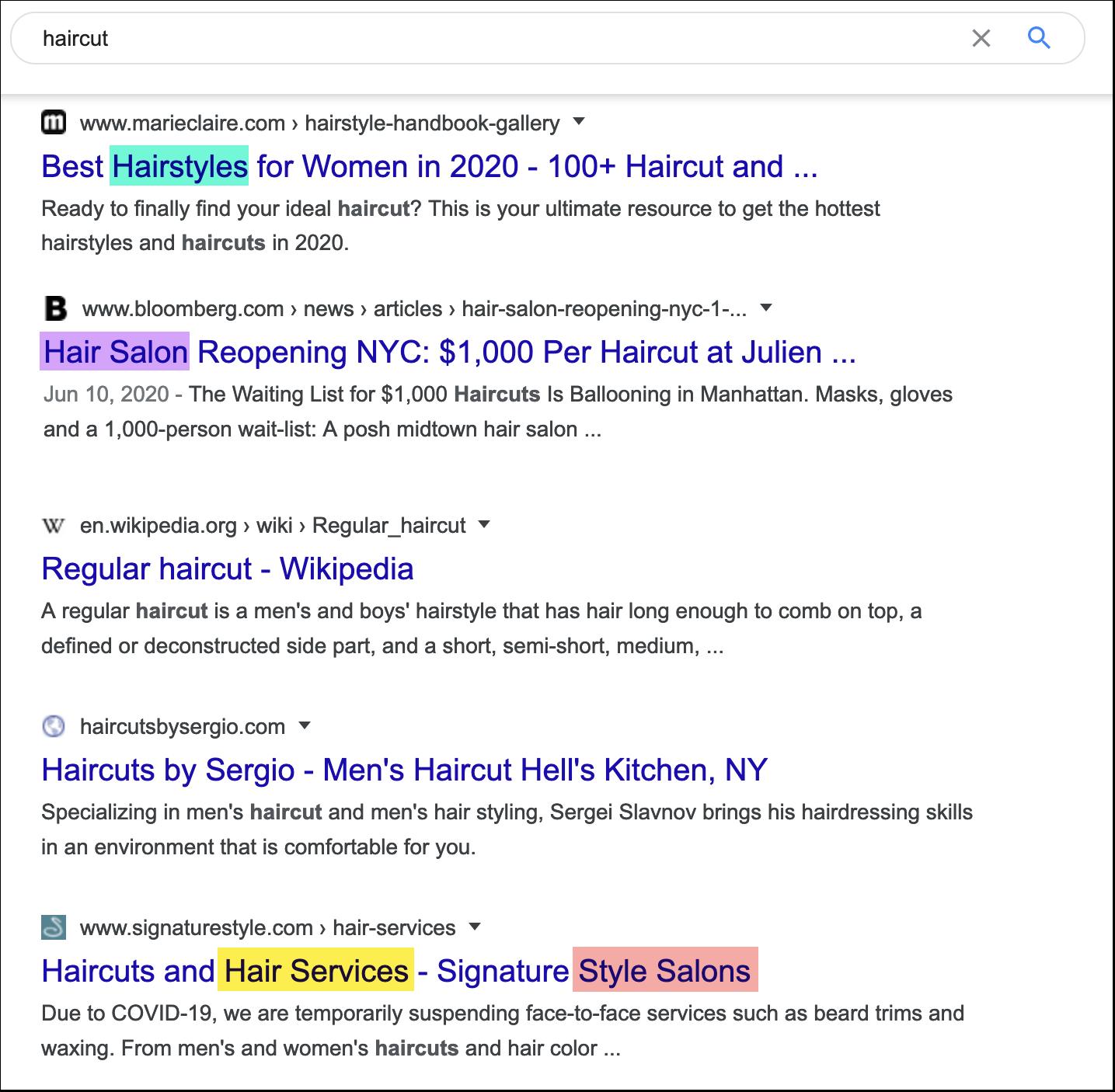 Keyword research in Google