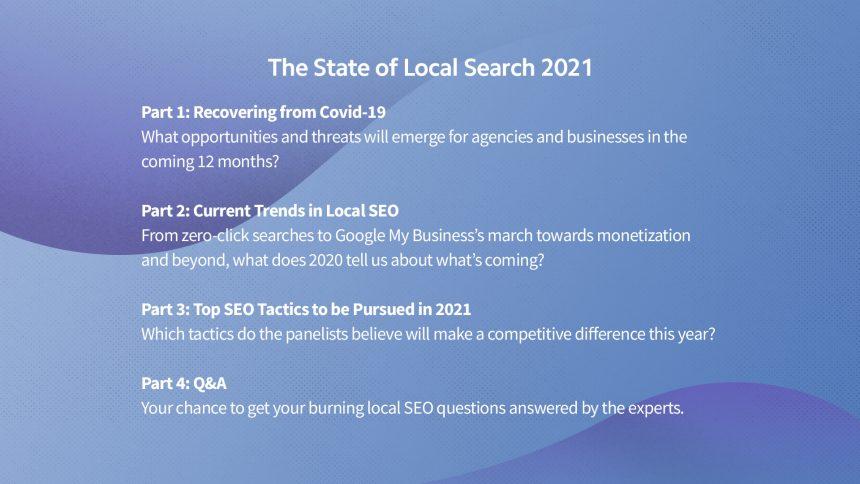 The State of Local Search 2021 Agenda