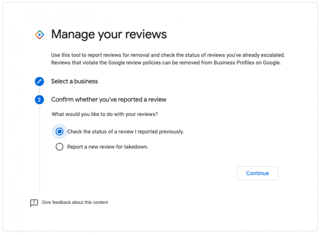 Check review report status