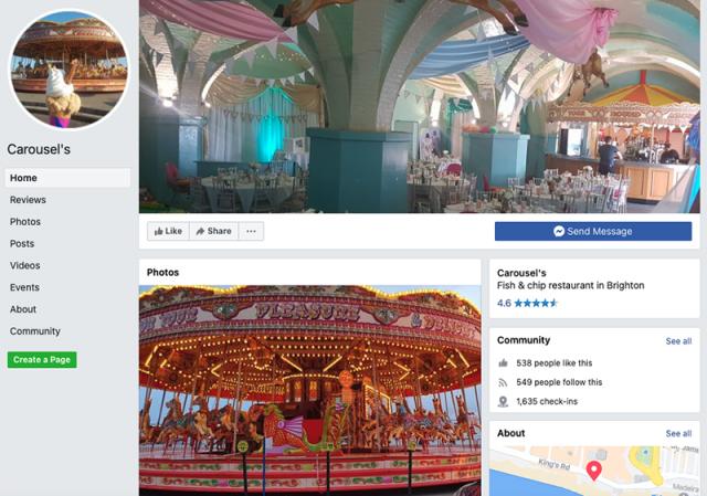 Carousel's restaurant facebook