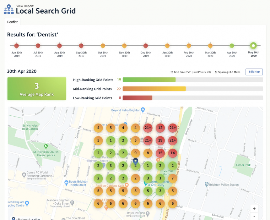 Local Search Grid for service-area businesses