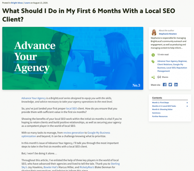 Advance Your Agency