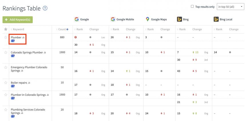 Google My Business Logo Rank Checker report