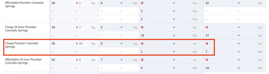 Rankings Rank Checker report