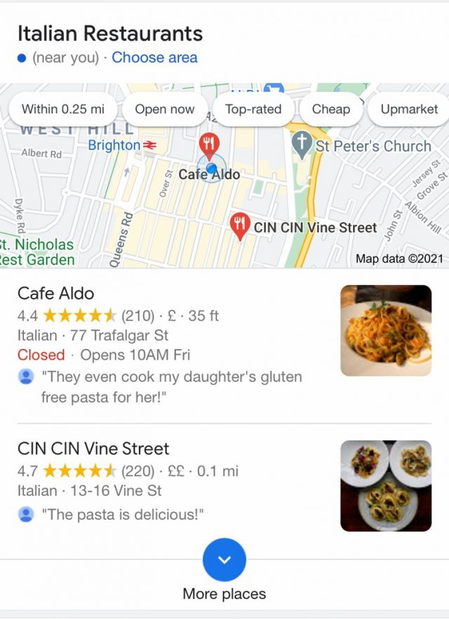 Google Local 2-Pack