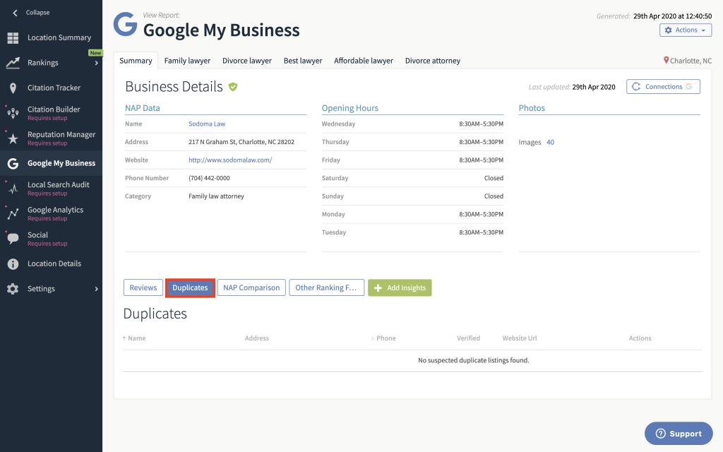Google My Business Duplicates