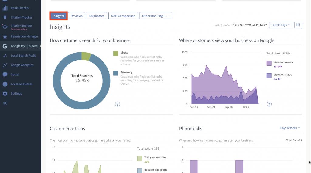 Google My Business Insights