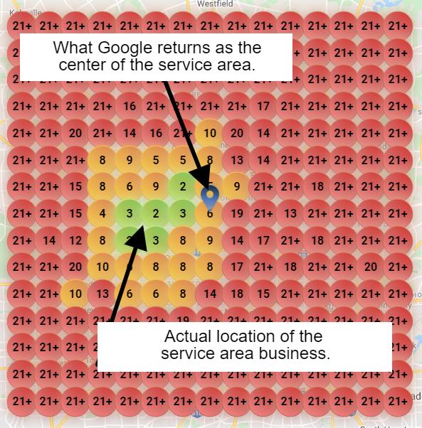 Local Search Grid service area