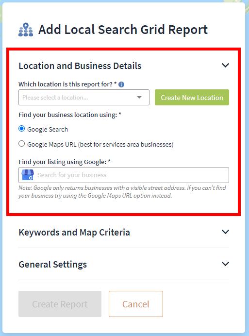 Location business details
