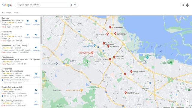 Google Local Finder screenshot