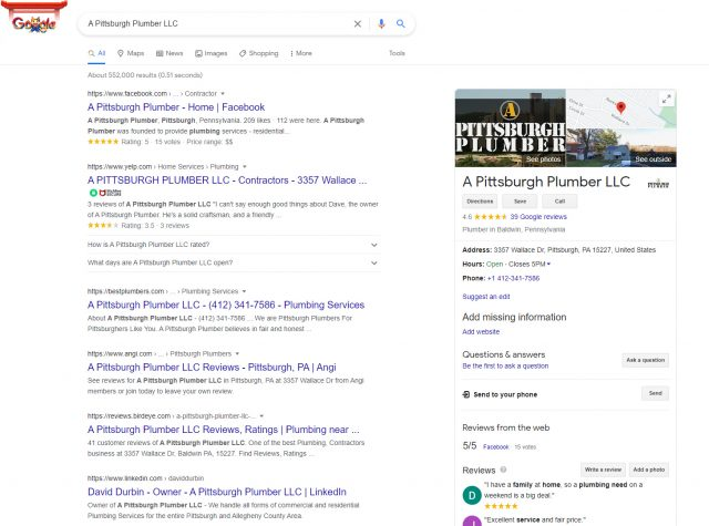 Google business listing Knowledge Panels