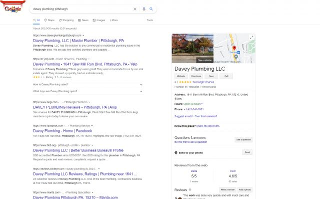Google business listing Own This Business