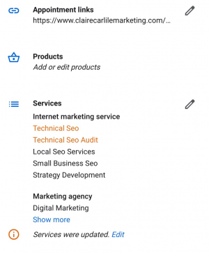 GMB Products and Services screenshot 2