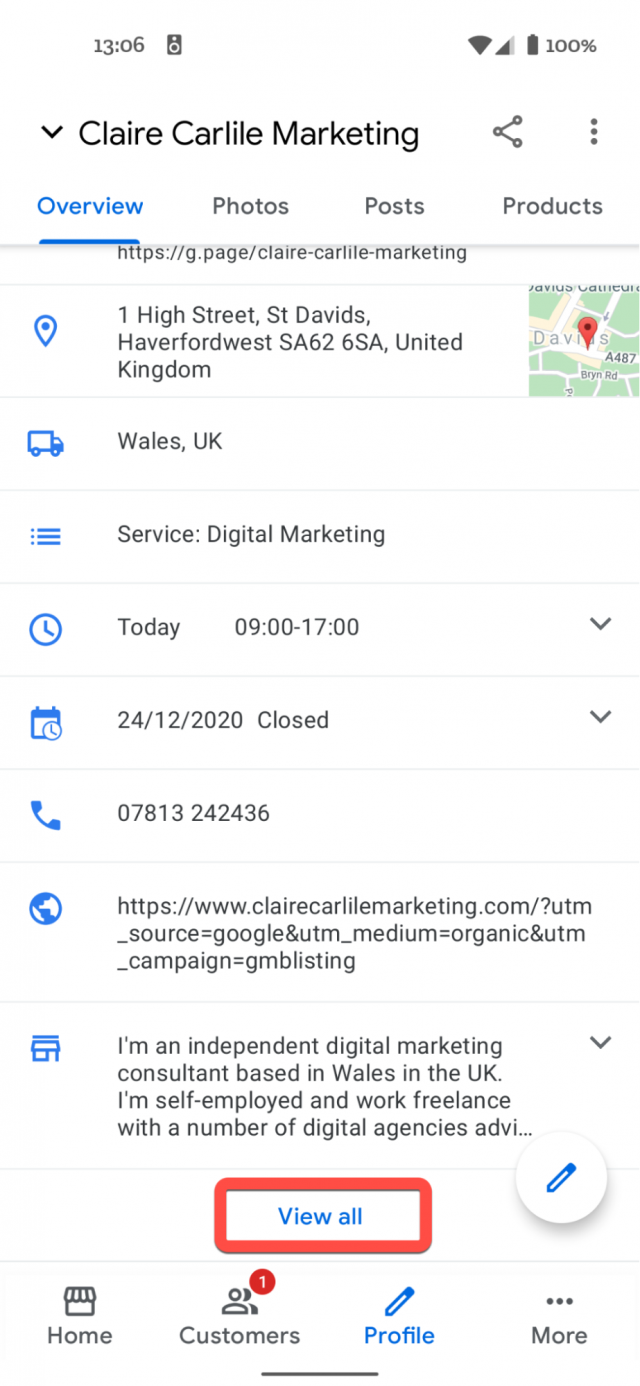 GMB Products and Services screenshot 3